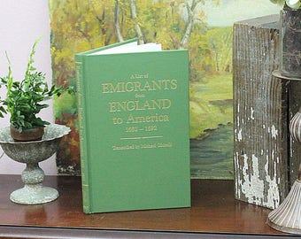 Genealogy A List Of Emigrants From England To America 1682-1692 by Michael Ghirelli Family History Genealogical Records History Book Books