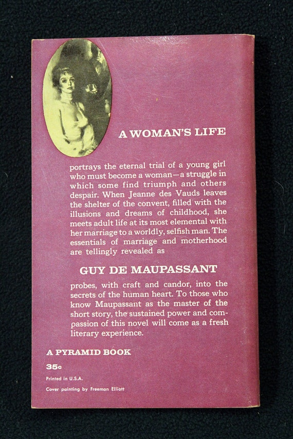 A Womans Life By Guy De Maupassant Vintage 1960 Pyramid Etsy