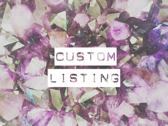 Custom Listing for Jamie