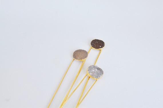 Druzy Hair Pin
