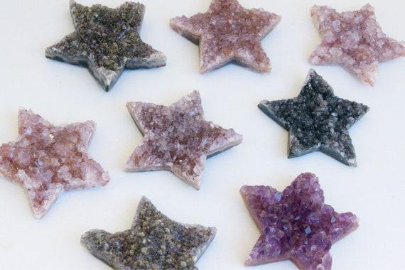 Druzy Amethyst Stars