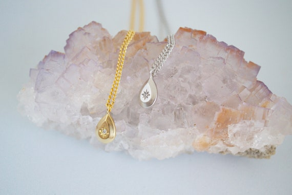 North Star Necklace // gold or silver plated simple star pendant necklace