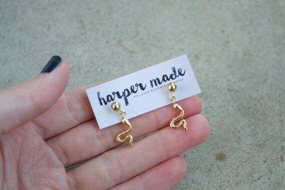SALE // Snake Dangle Studs