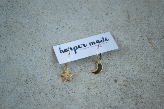 Star Gazer Mini Hoops