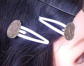 Melting Clocks Hair Clips