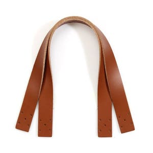 32-6103 24 byhands Genuine Leather Purse HandleBag Strap with Bronze Style Hook