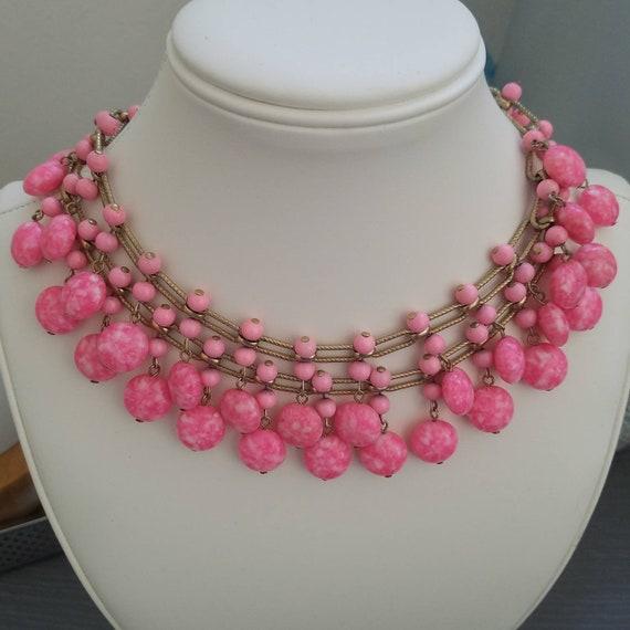 Vintage kramer bib necklace