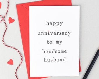Anniversary Husband or Wife Personalised Card - Anniversary Card - Personalised Card - Wife Anniversary Card - Husband Anniversary Card