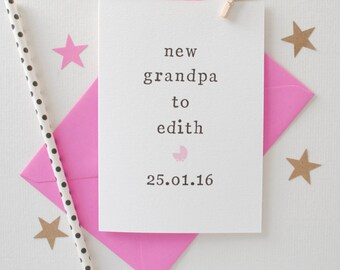 New Grandparents Card - Grandparents for New Baby Card - New Grandpa Card - New Baby Card - Congrats Card - New Grandma Card - Baby Card