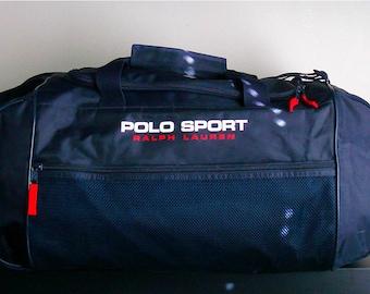 0cfdc604ab3e4 vtg ralph lauren polo sport duffle weekend travel bag bear usa sportsman  1993 ivy