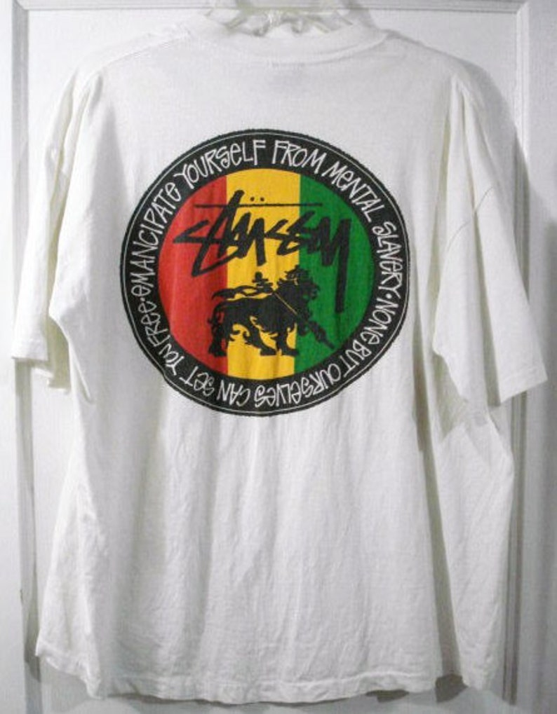 c8bf37a6095 Vintage stussy feelin  irie rasta lion tribe of judah sz