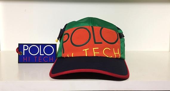 Bnwt vintage ralph lauren polo hi tech 3m 2 pocket fitted hat  39554b0a89a