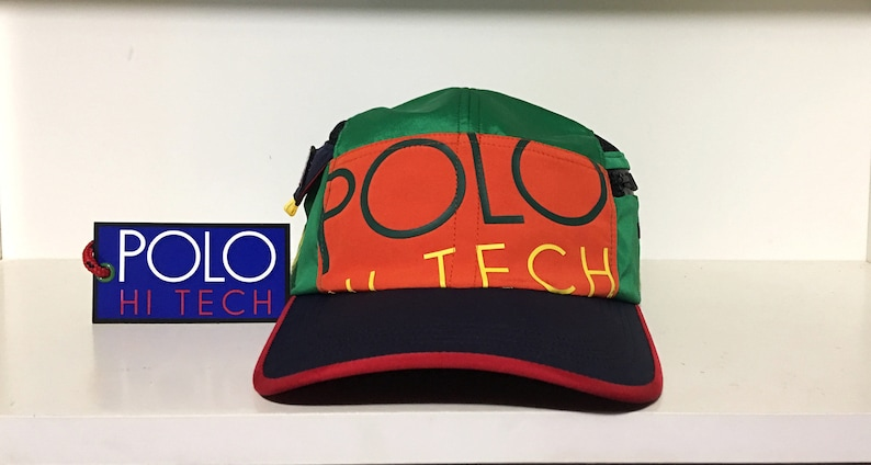 Bnwt vintage ralph lauren polo hi tech 3m 2 pocket fitted hat  f974ff1c2822