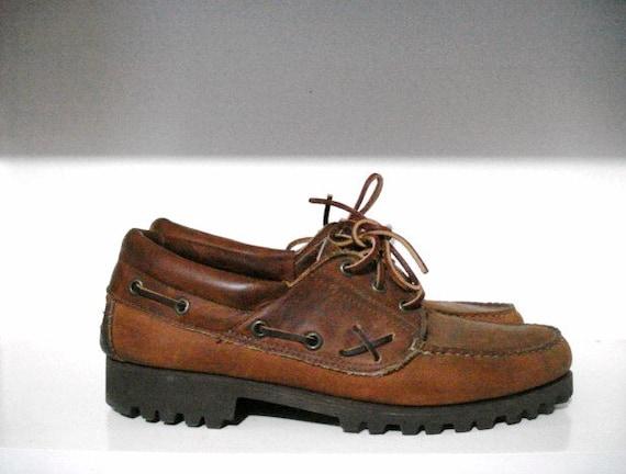 VTG ralph pays de polo lauren chaussures ranger basse 9.5 9.5 9.5 ours lierre fabriquée aux Etats-Unis | New Style  b38adb