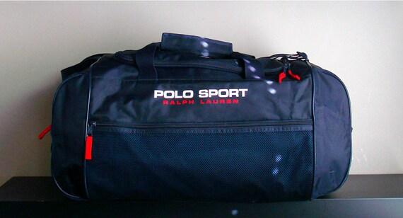 ddae93ce0f08 vtg ralph lauren polo sport duffle weekend travel bag bear usa