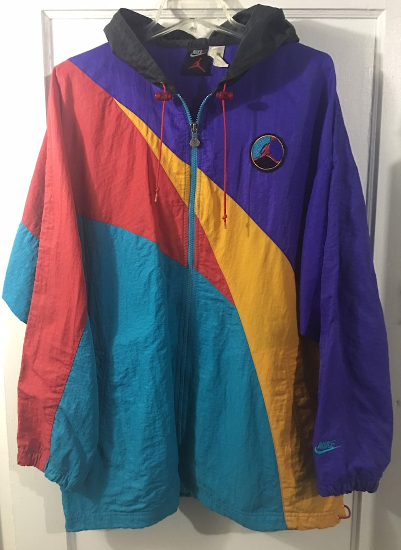 premium selection 3da3d 6be7a Vintage nike air hare jordan aqua 8 VIII windbreaker jacket sz   Etsy