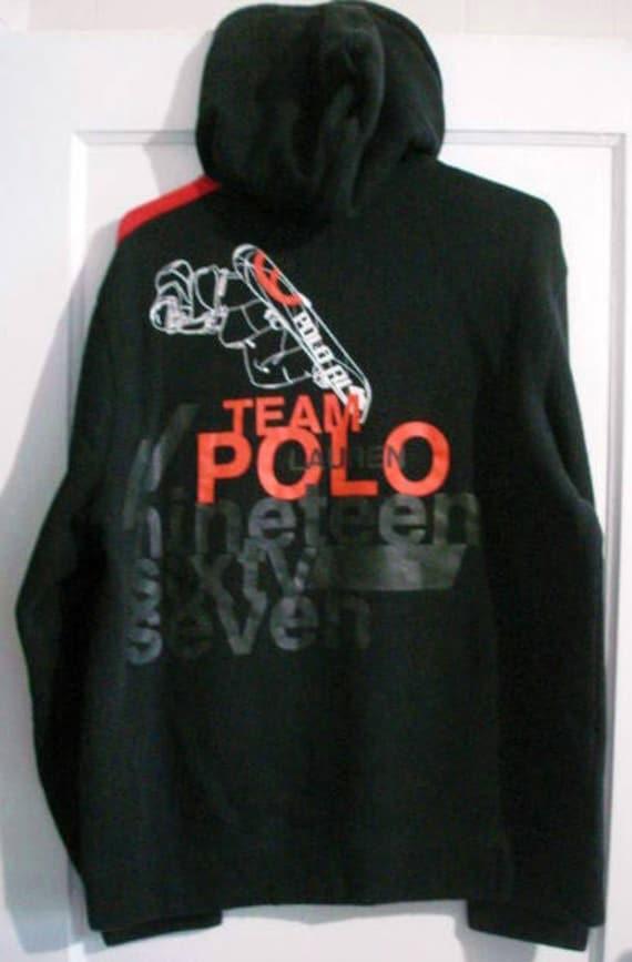 Vintage ralph lauren équipe polo Sweat à capuche active sz L 1992 92 1993 93 sport de lierre
