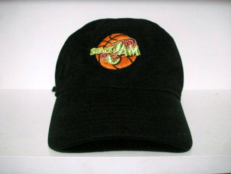 5f52e3c8a8dd Vintage looney tunes warner brothers space jam strap back hat