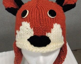 Fox Earflap Hat