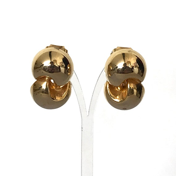 GOLDEN Trio of CLIP On Earrings Vintage Lot of Clip Earrings Gold Toned Metal Circa 1960s to 1980s Great Sizing for MTF