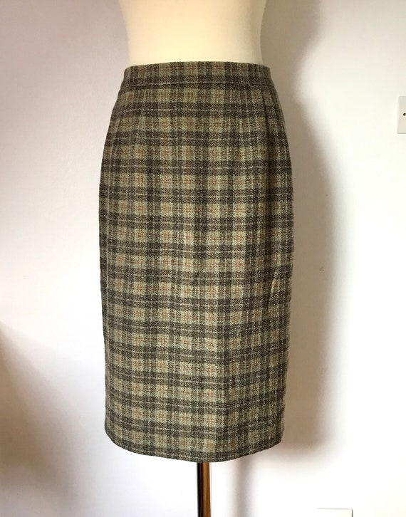 89dbd1410272 WEILL WOOL SKIRT   French vintage skirt   Checkered   Fashion