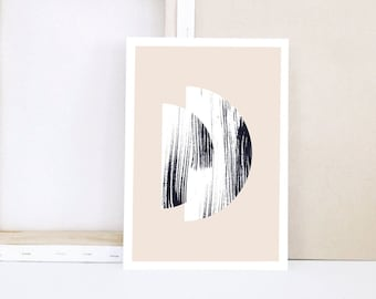 Mini Print - SEMI CIRCLES II - cream