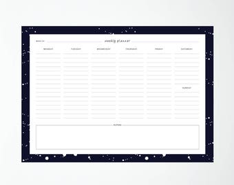 A4 Weekly Planner SPECKLES