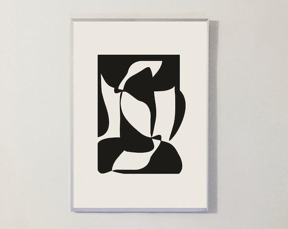 Print SILHOUETTE V BLACK