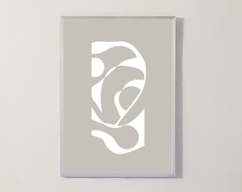Print WHITE SILHOUETTES