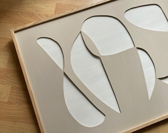 Original work - Nude Shapes - Papercut - 50x70