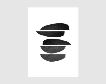Mini Print - SHAPES VII black