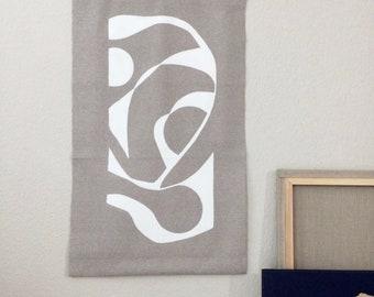 Textile image WHITE SILHOUETTES