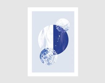Mini Print - CIRCLES blue