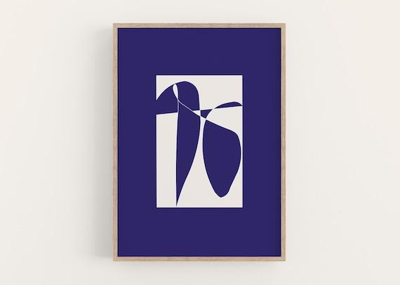 Print BLUE SHAPES DIN A4
