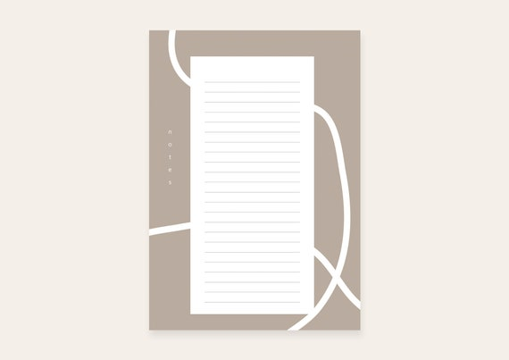 Notepad A5 - LINES