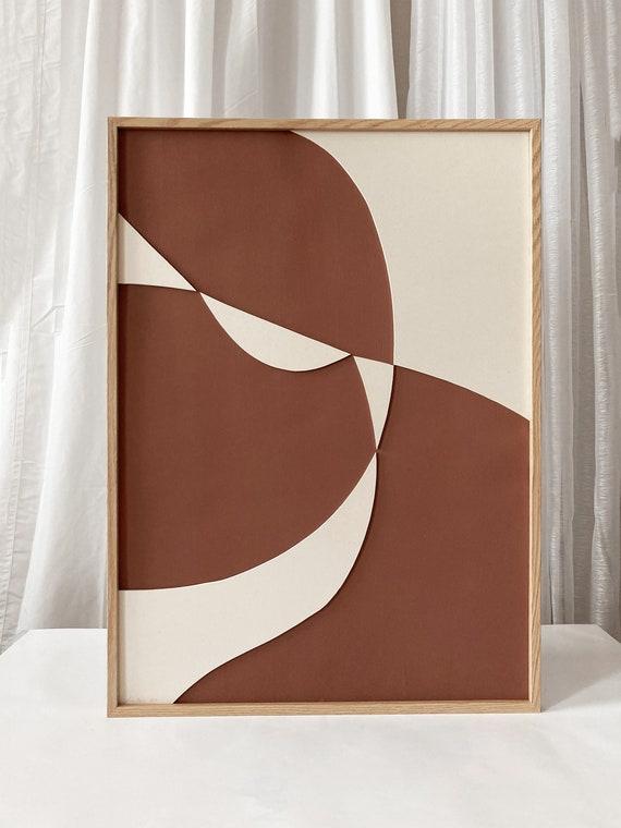 Original work - Red Shapes II - Papercut - 50x70