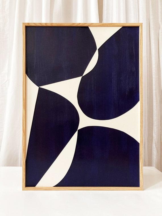 Original work - Blue Shapes - Papercut - 50x70