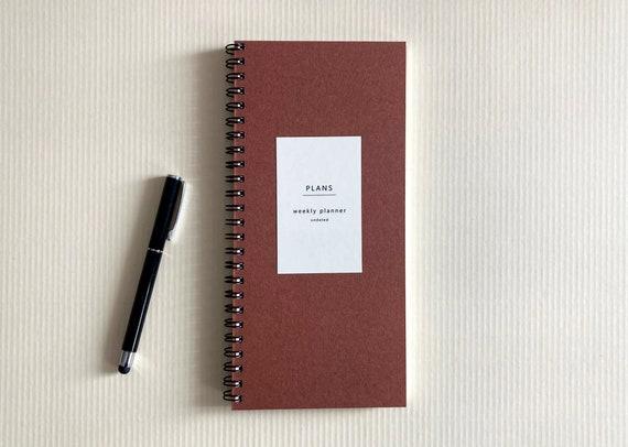 Undated weekly planner - reddish brown
