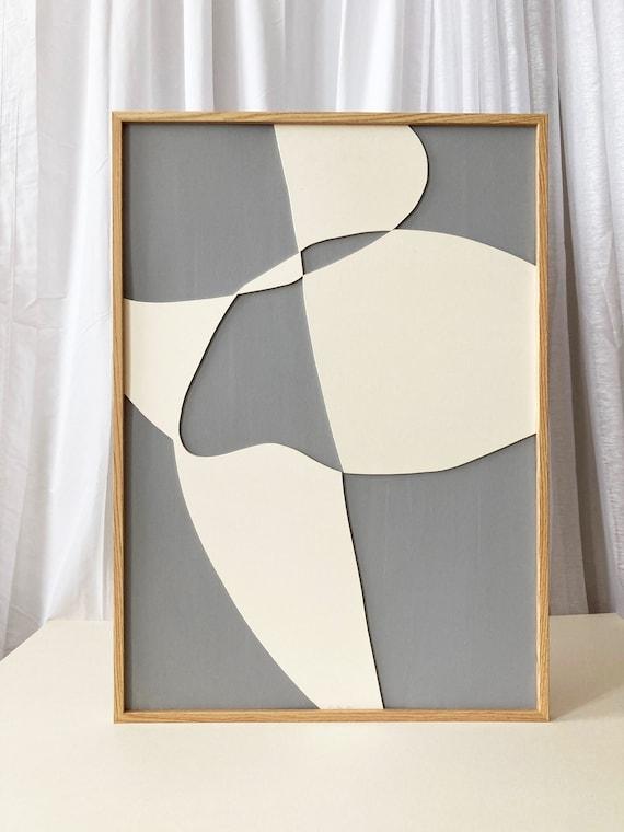 Original work - Grey Shapes - Papercut - 50x70