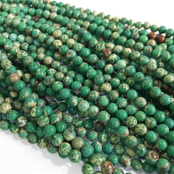 "8mm Olive Jade Dyed Round Beads 40cm 15/"" Gemstone"