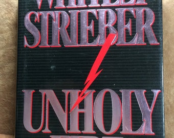 Vintage Book Unholy Fire by Whitley Strieber