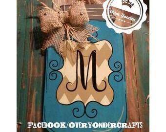 Monogram Mason Jar Hanger