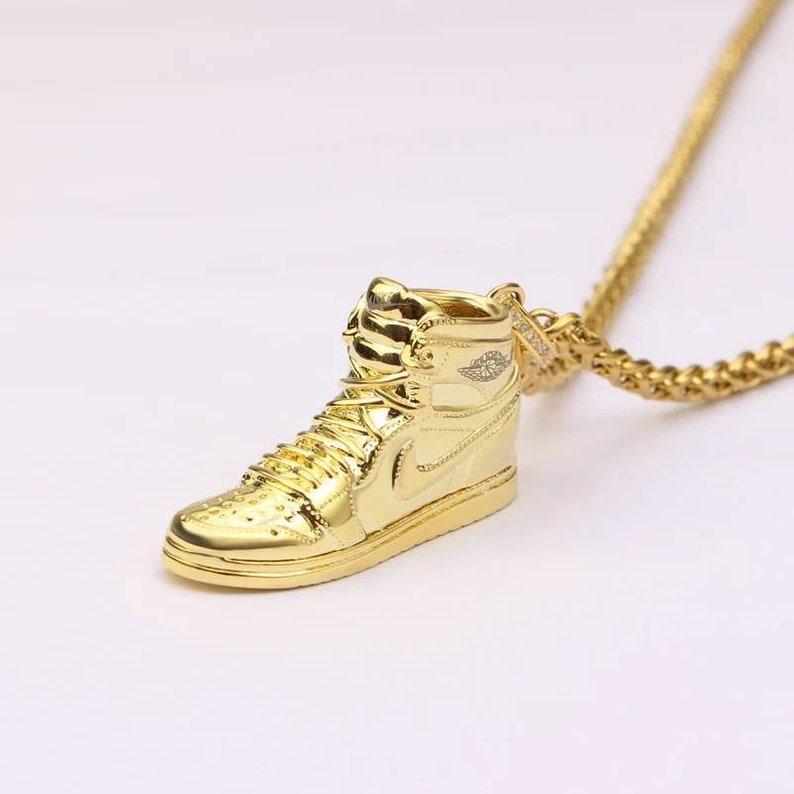 4234d2f29eb4 Air Jordan 1 3D Necklace with box Gold Colour