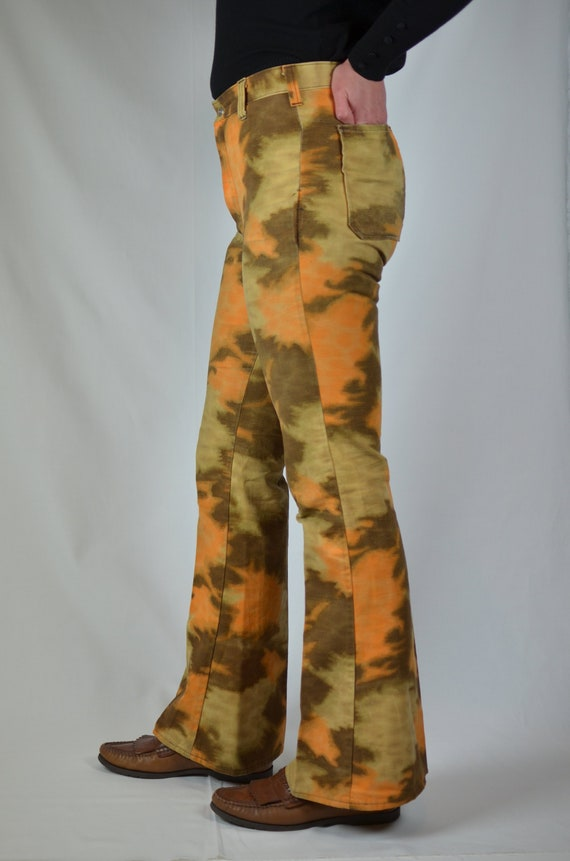 Vintage Landlubber Orange Brown Abstract Tie Dye F