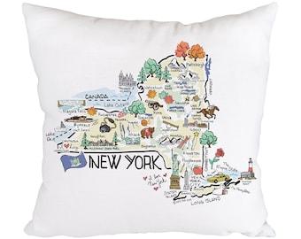 New York Pillow Etsy
