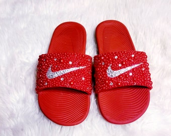f6f87586348896 Nike Slides Red Hot Sparkle