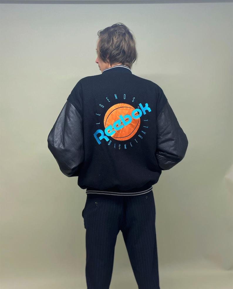 Vintage 1990s Reebok basketball quilted varsity jacket