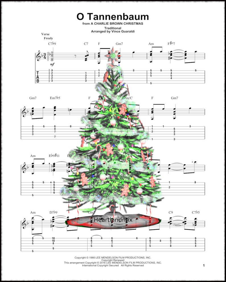 photograph relating to Free Printable Vintage Christmas Sheet Music known as Xmas Tree Sheet Audio Traditional Xmas Picture Down load Printable rustic decor 300 DPI