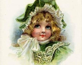 Vintage Digital Image Frances Brundage Victorian Child
