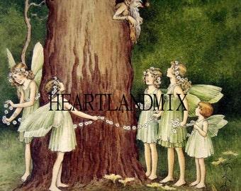The Fairies Baby Nursery Digital Graphic Image